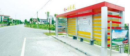 公交车站遍布乡村