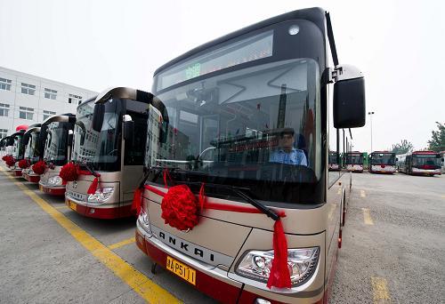天津市公交集团40辆纯电动公交车投入运营 图文高清图片