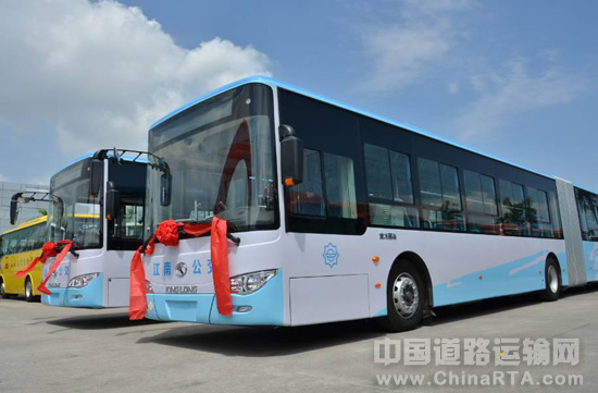 """7-23 青岛温馨巴士""""爱上""""宇通新能源公交 7-23 1100辆安凯客车驶向"""